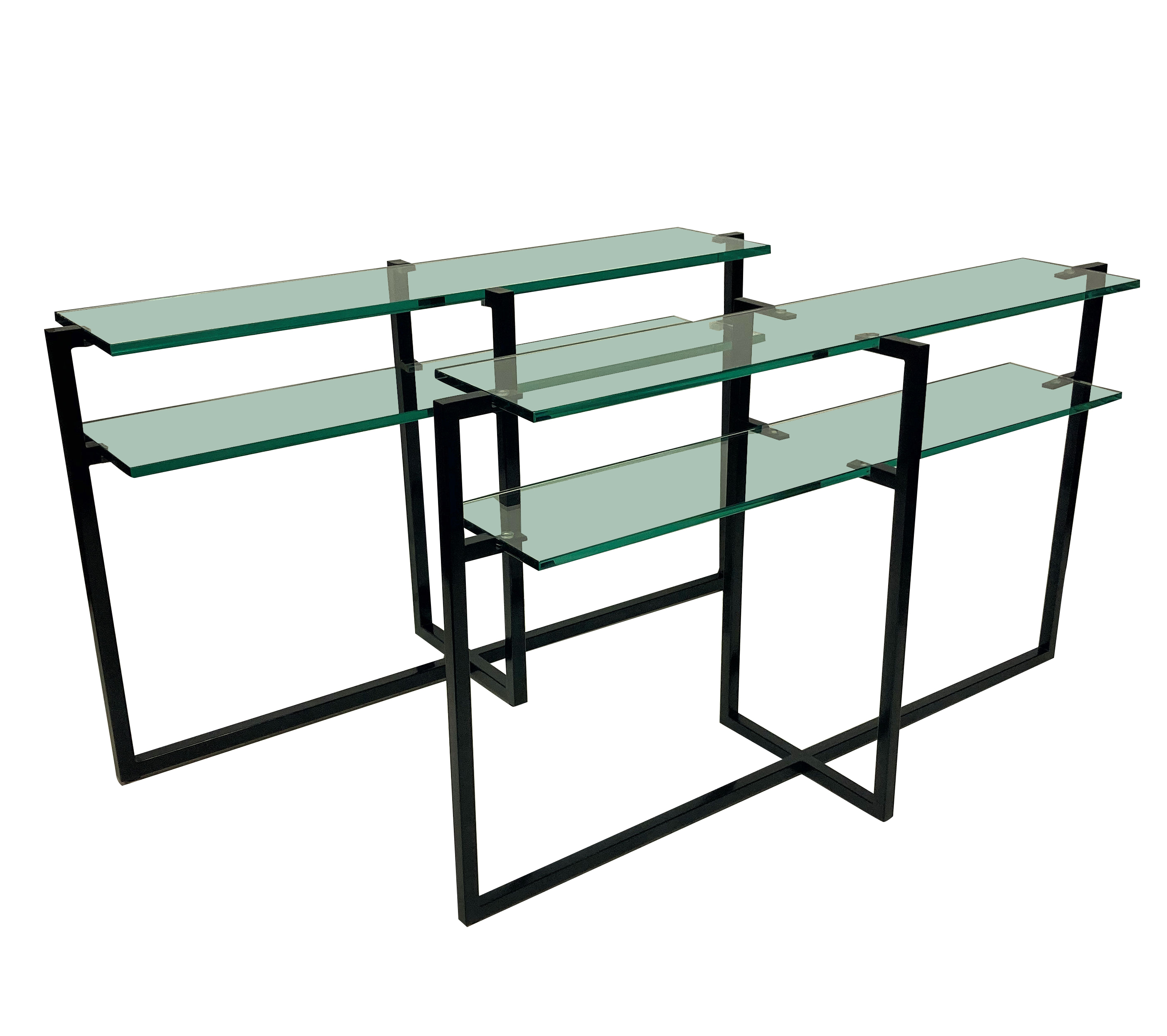 A PAIR OF FRENCH MODERNIST CONSOLE TABLES