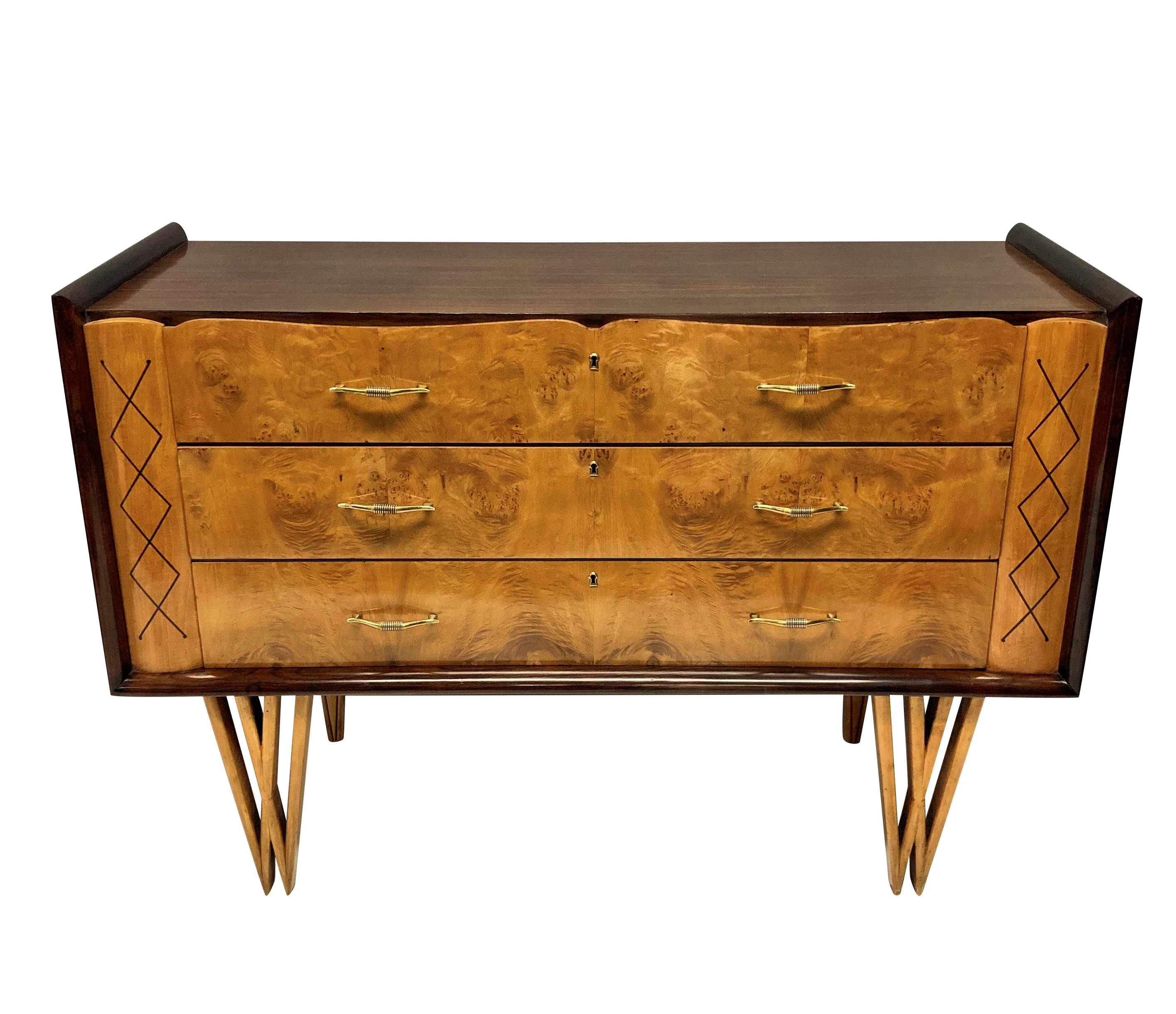 A STYLISH FRENCH MID-CENTURY COMMODE