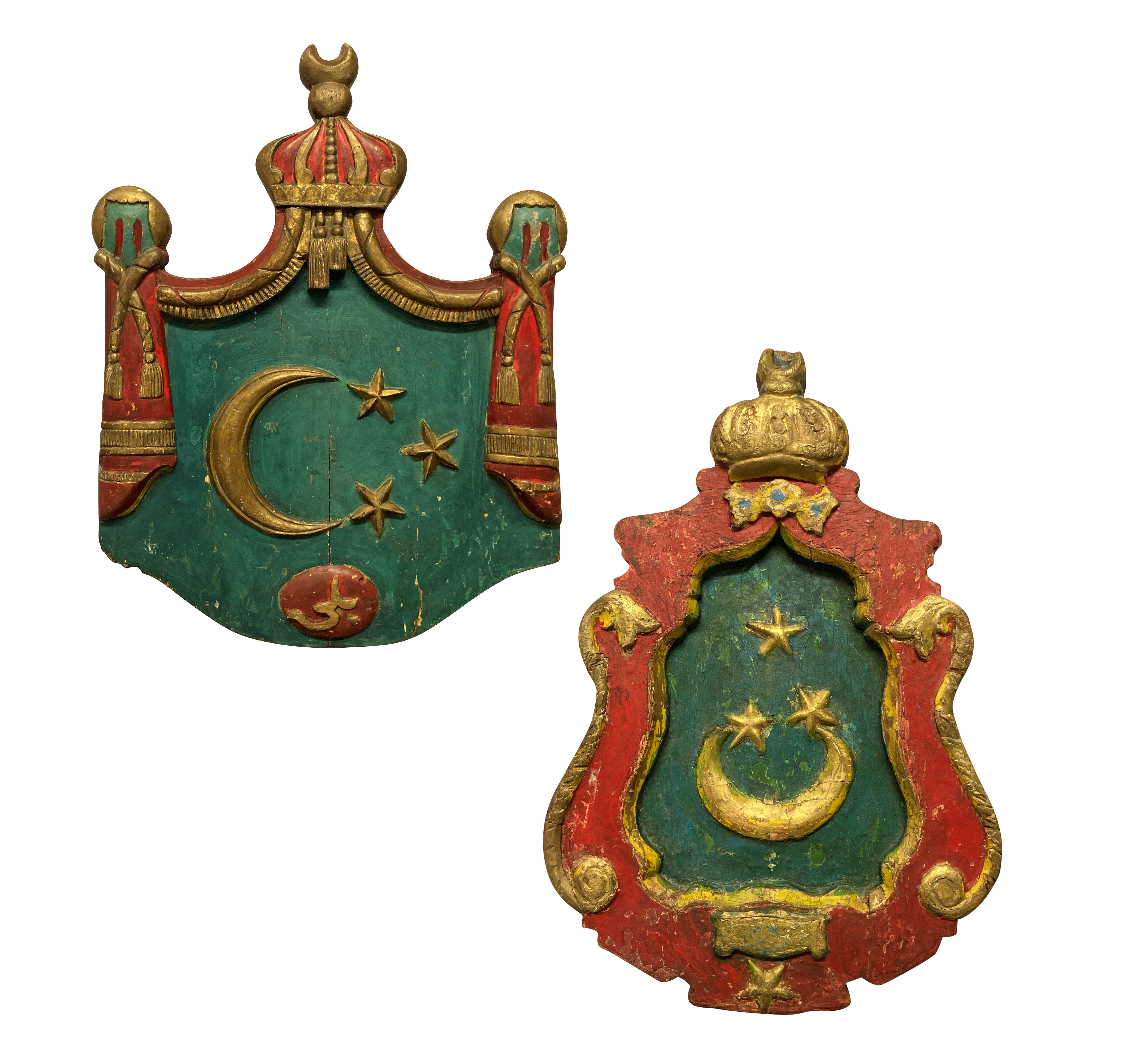 A PAIR OF RARE ISLAMIC COATS OF ARMS