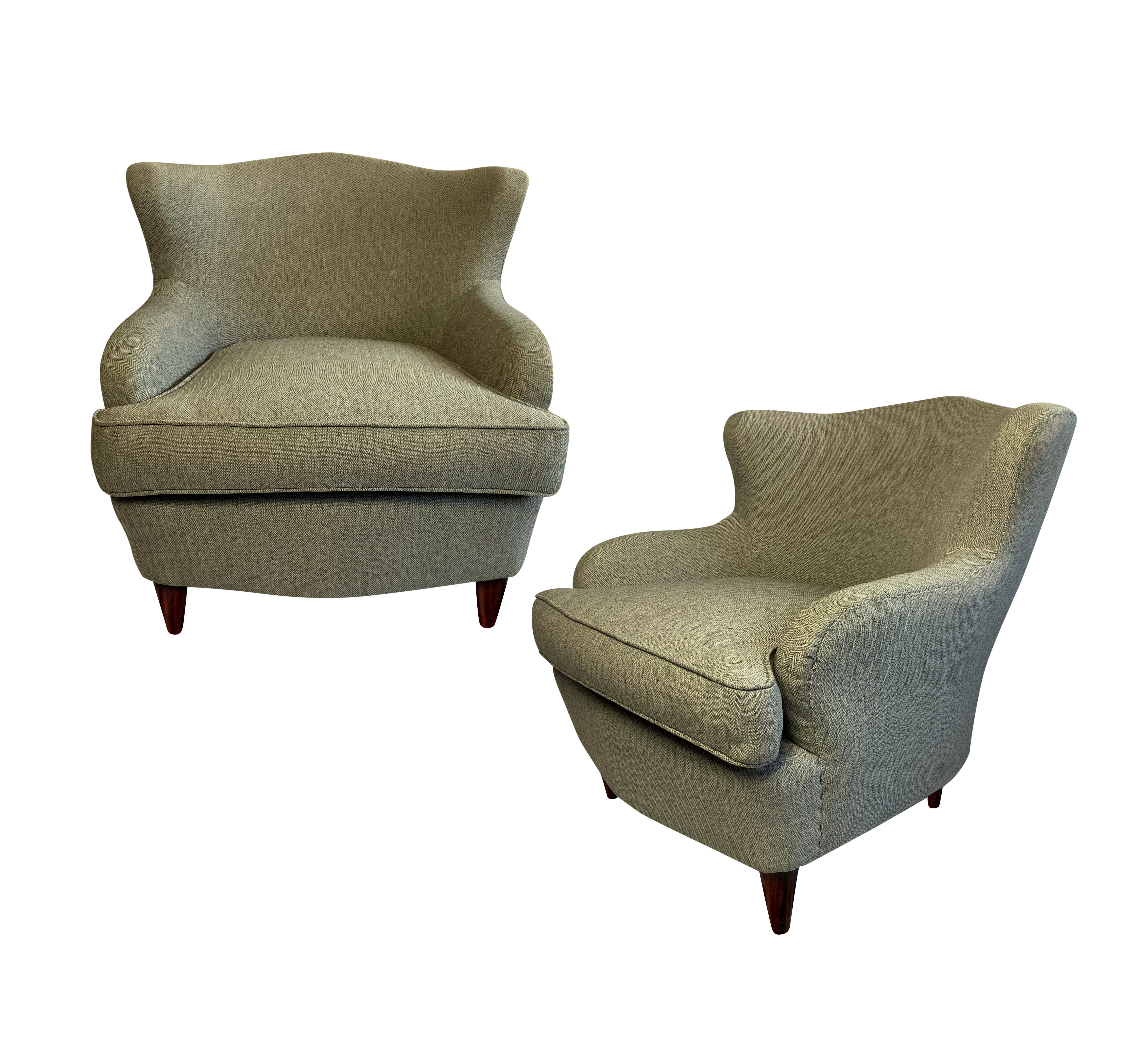 A PAIR OF COCKTAIL CHAIRS BY ISA