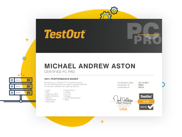 TestOut Pro Certifications - See What They Can Do