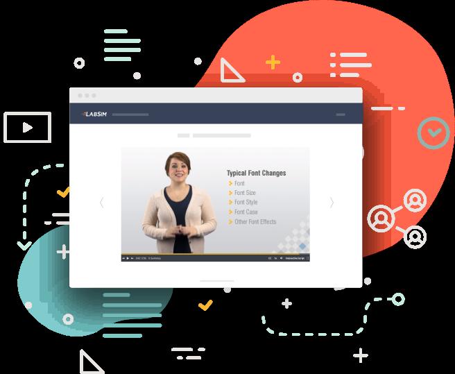 LabSim Screenshot - Office Pro