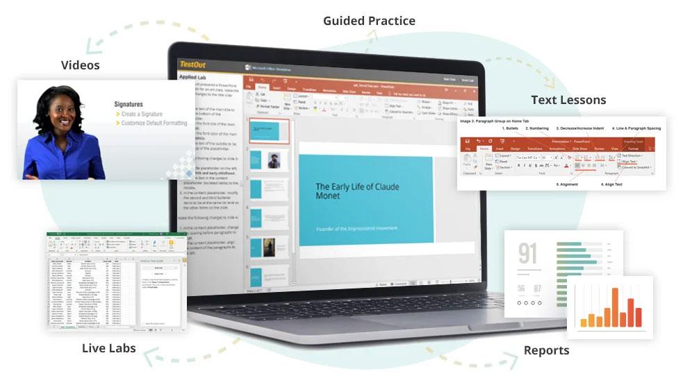 TestOut Office Pro Content