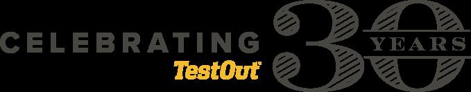 Logo - Celebrating 30 Years at TestOut