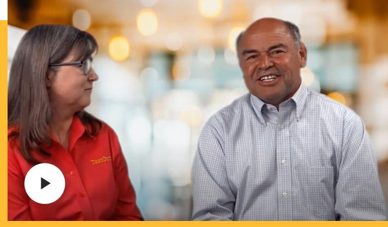Noel Vallejo (CEO) and Carolyn Landon discuss TestOut's 30 Year Celebration