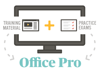 Office Pro = Training Material + Practice Exams