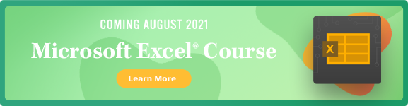 Microsoft Excel Course Coming Aug 2021 - Learn More