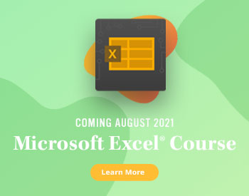 New TestOut Course for MS Excel - Coming August 2021 - Learn More