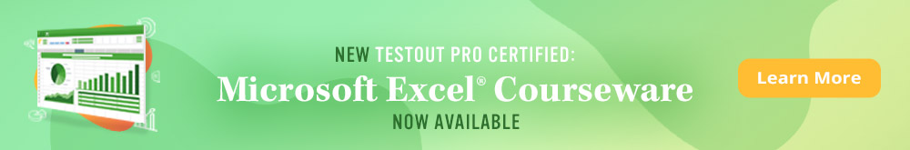 TestOut Pro Certified: Microsoft Excel® - Now Available