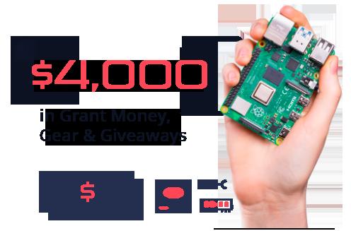 $4,000 in Grant Money, Gear, & Giveaways