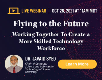 TestOut Webinar Registration - Flying to the Future - Working Together to Create a More Skilled Technology Workforce - October 28, 2021 at 11:00 am MDT