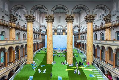 Lawn Installation, National Building Museum (NBM), Washington D.C., 2019. Image credit: Timothy Schenck