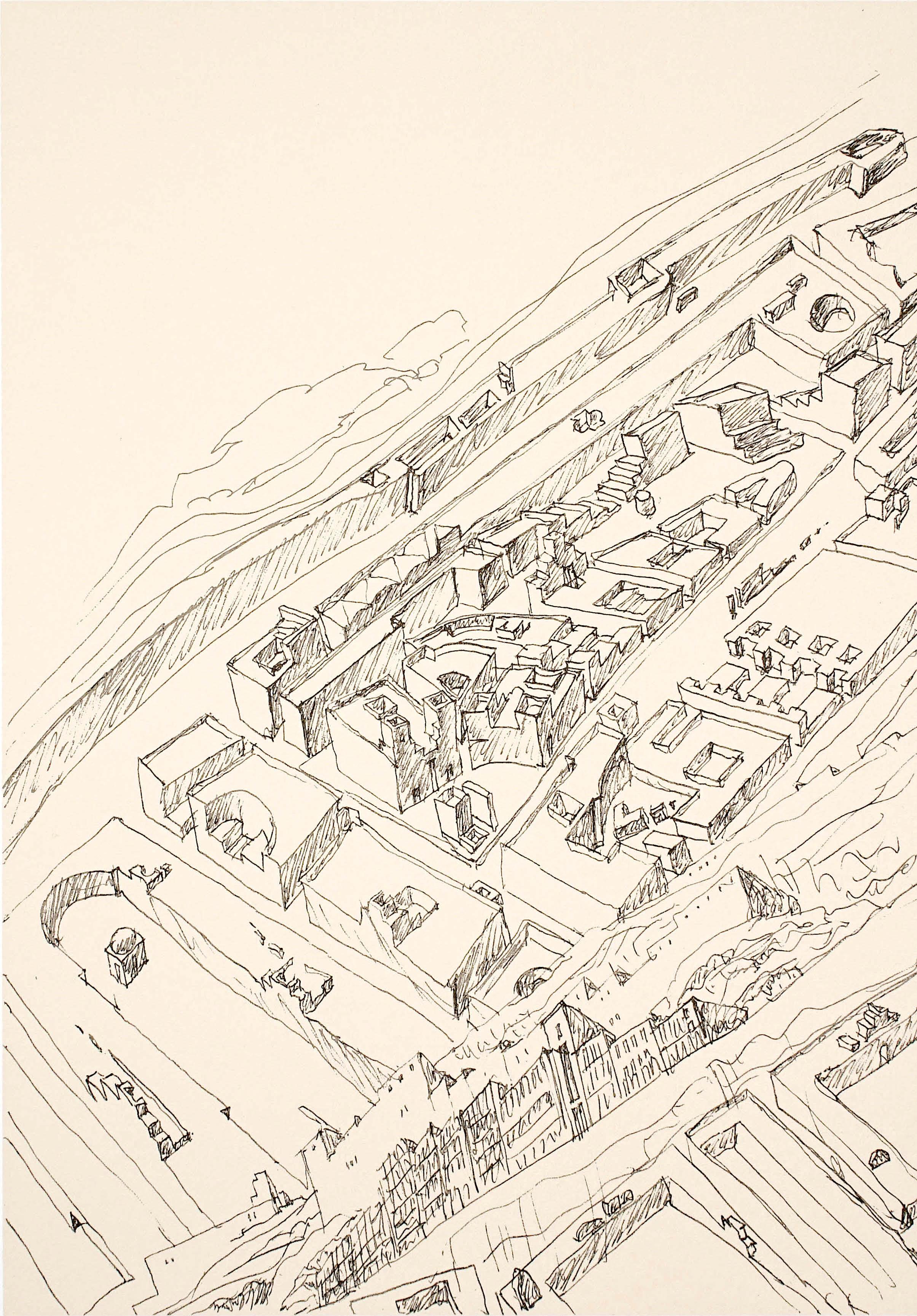 A drawing by architect Álvaro Siza.