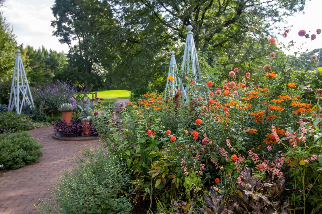 A photo of the gardens at Wave Hill.