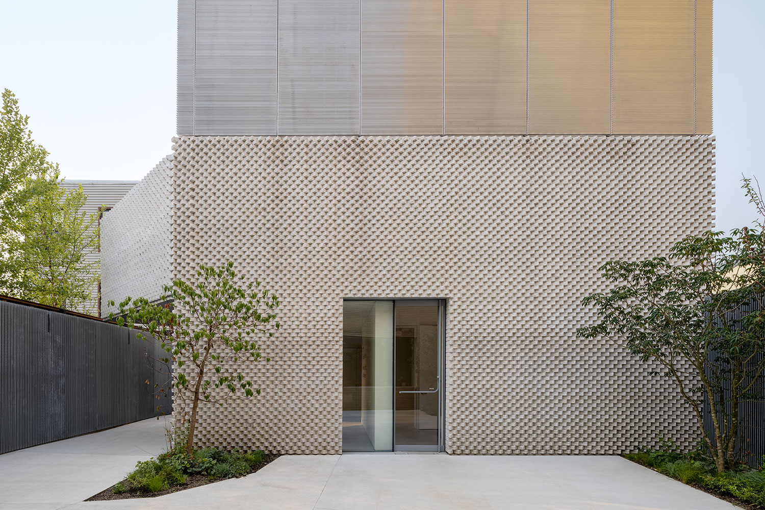 White box facade of the Amant Foundation