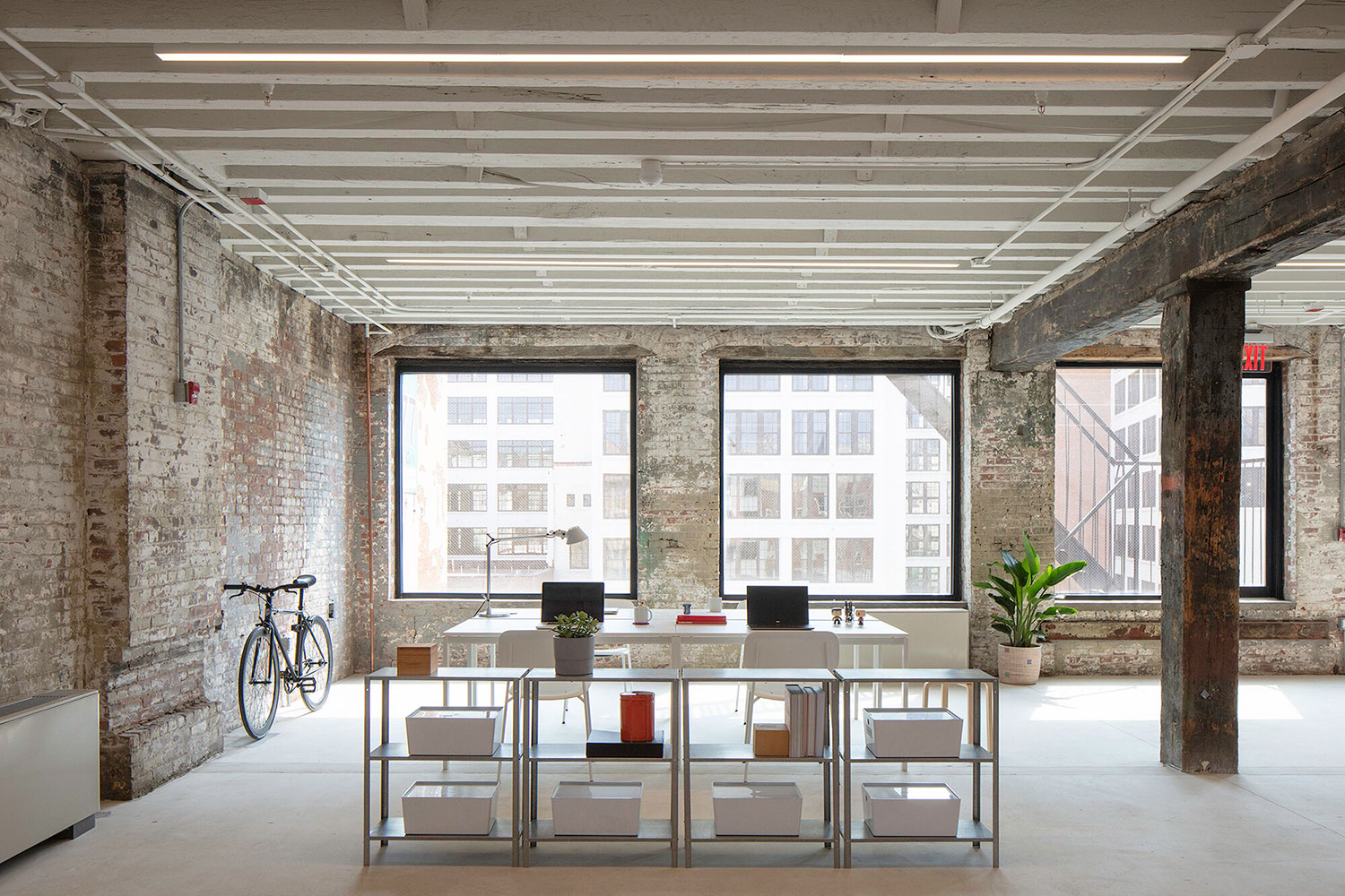 A photograph of an interior office space at 77 Washington Avenue