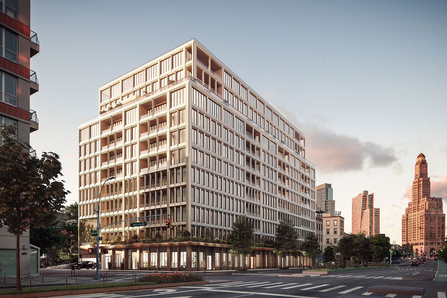 A rendering of the exterior facade of Saint Marks Place