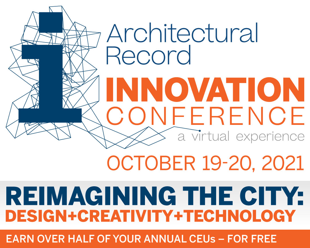 Promotional image for Architectural Record's Innovation Conference 2021.