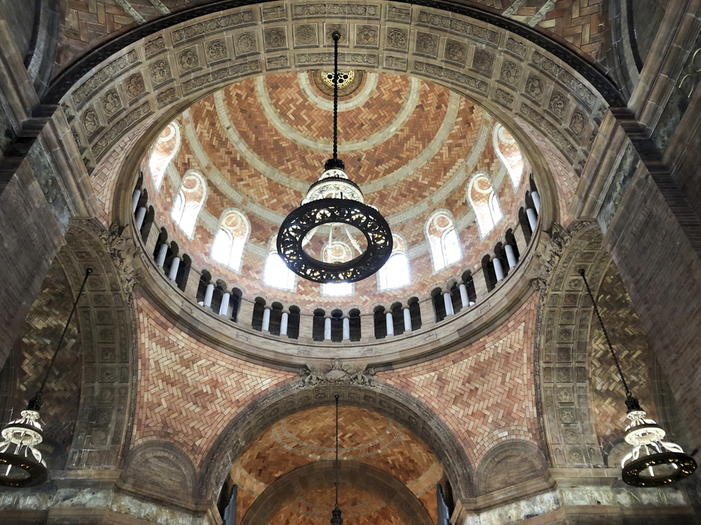 Photo of a domed, tiled space created by Guastavino.