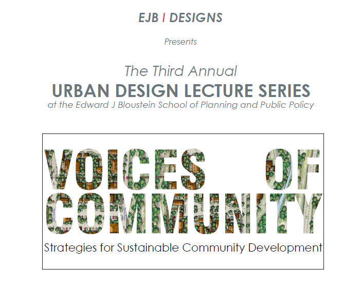Promotional image for Voices of Community lecture.