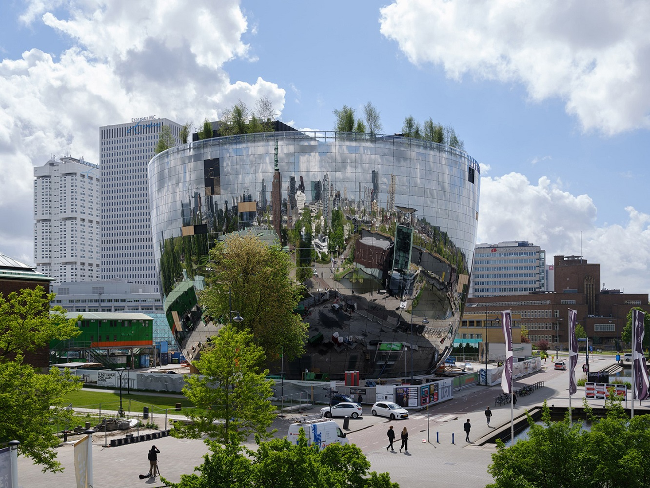 A photo of a project in Rotterdam that holds the archival collection for the Museum Boijmans Van Beuningen.