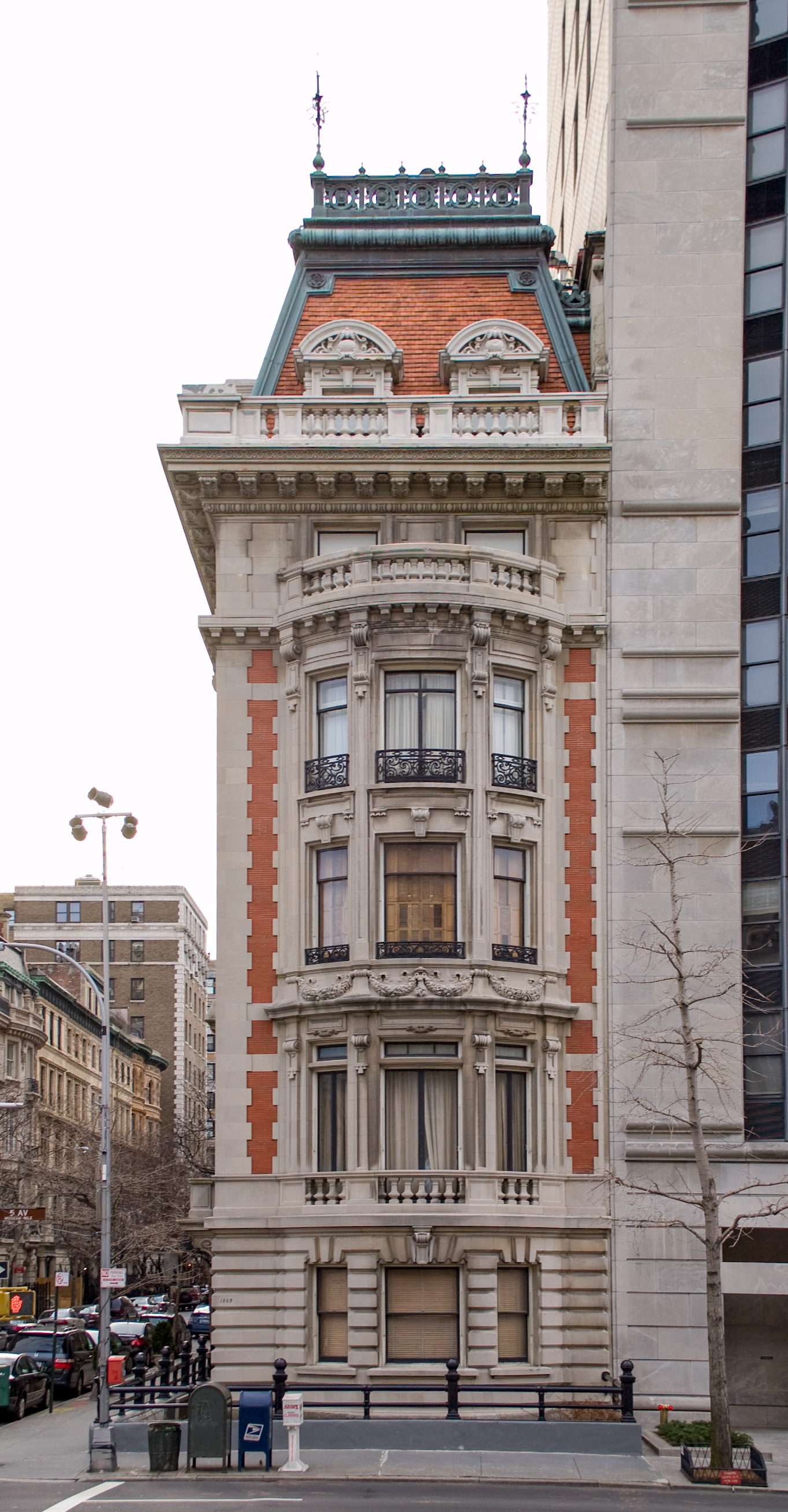 Facade of an historic mansion on 82nd street.