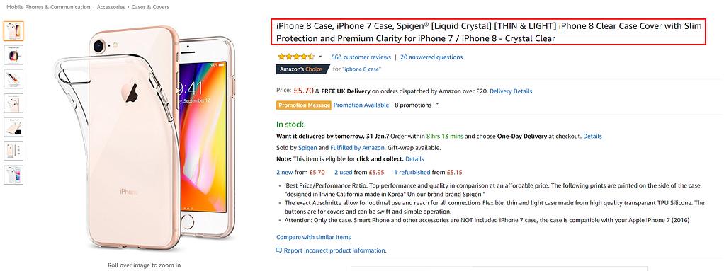Amazon SEO Title Example
