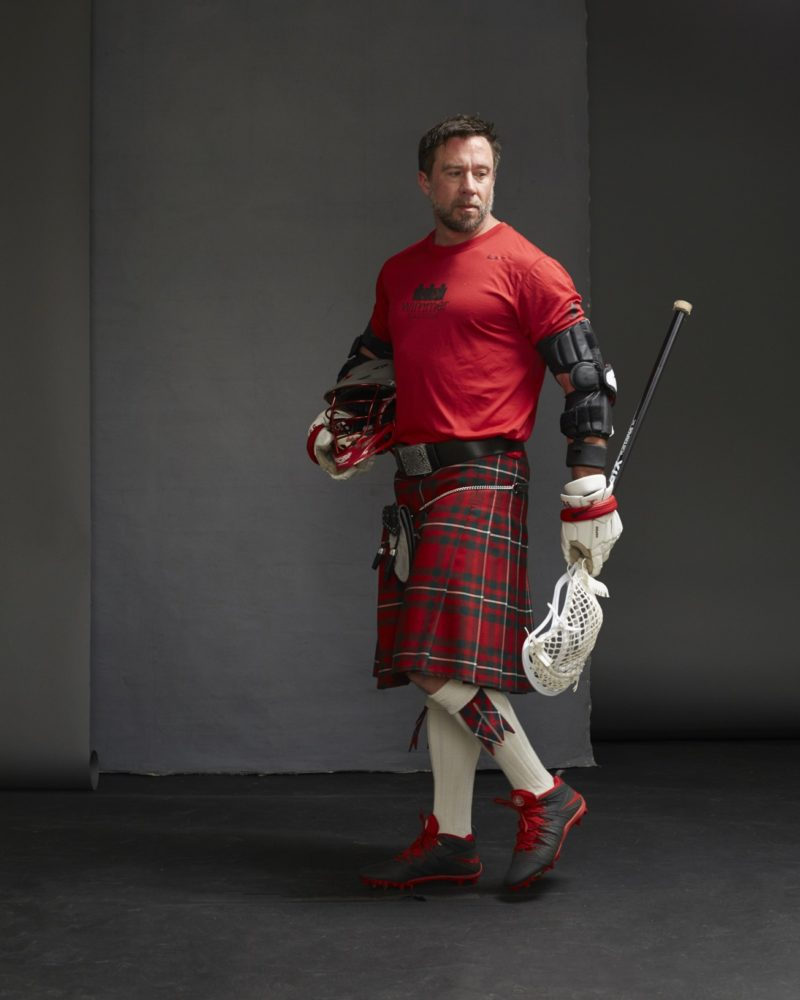 Wimmer Solutions CEO Matt Sauri dons Lacrosse gear and Kilt for RMHC Men in Kilts Fundraiser