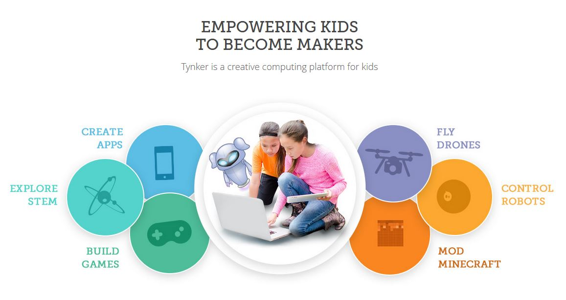 Tynker empowers kids to become makers using STEM, games, robots, and apps