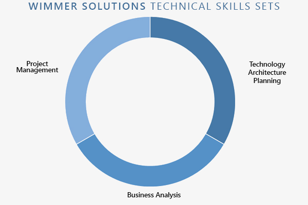 Wimmer Solutions technicall skills (project management, business analysis, technology architecture planning)