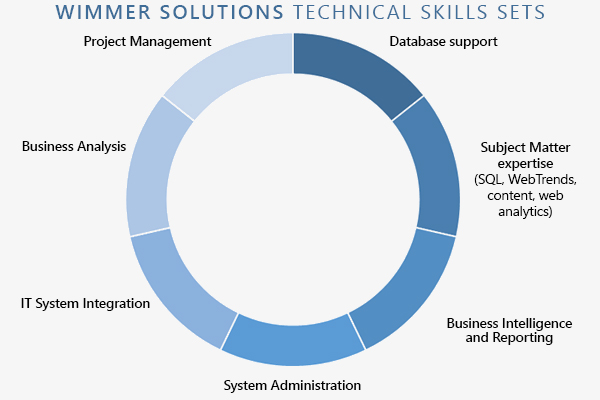 Wimmer Solutions Technical Skills - Web Analytics