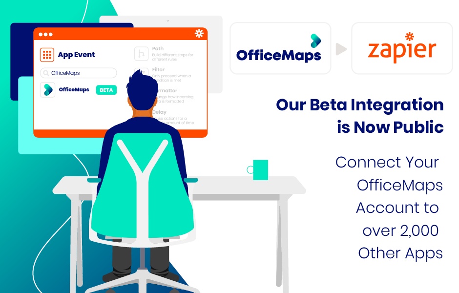 OfficeMaps Builds an API Integration with Zapier, to connect to 200+ applications.