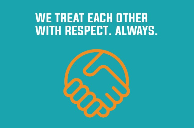 Warrior Code - We treat each other with respect.