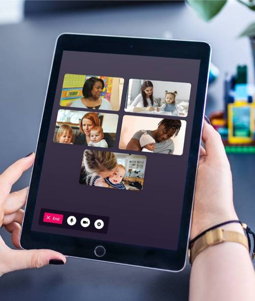 Enjoy live video sessions with your early years community, available in-app at the click of a button with Famly Live.