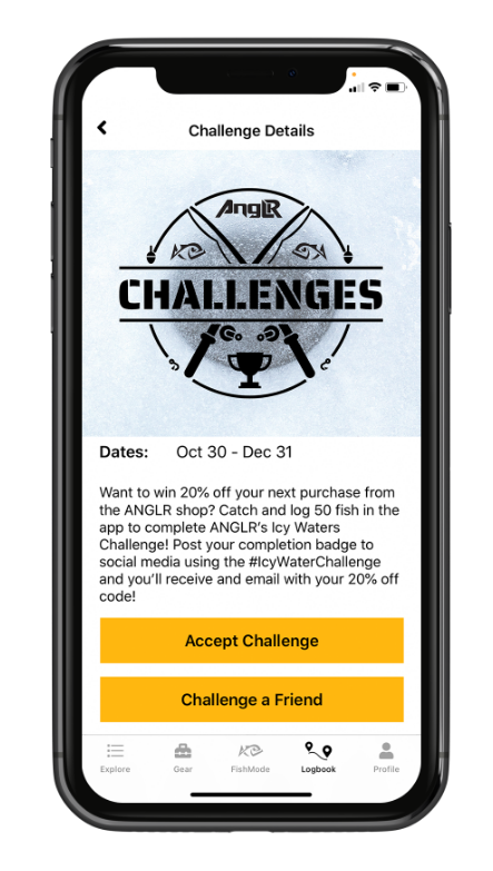 challenges app interface