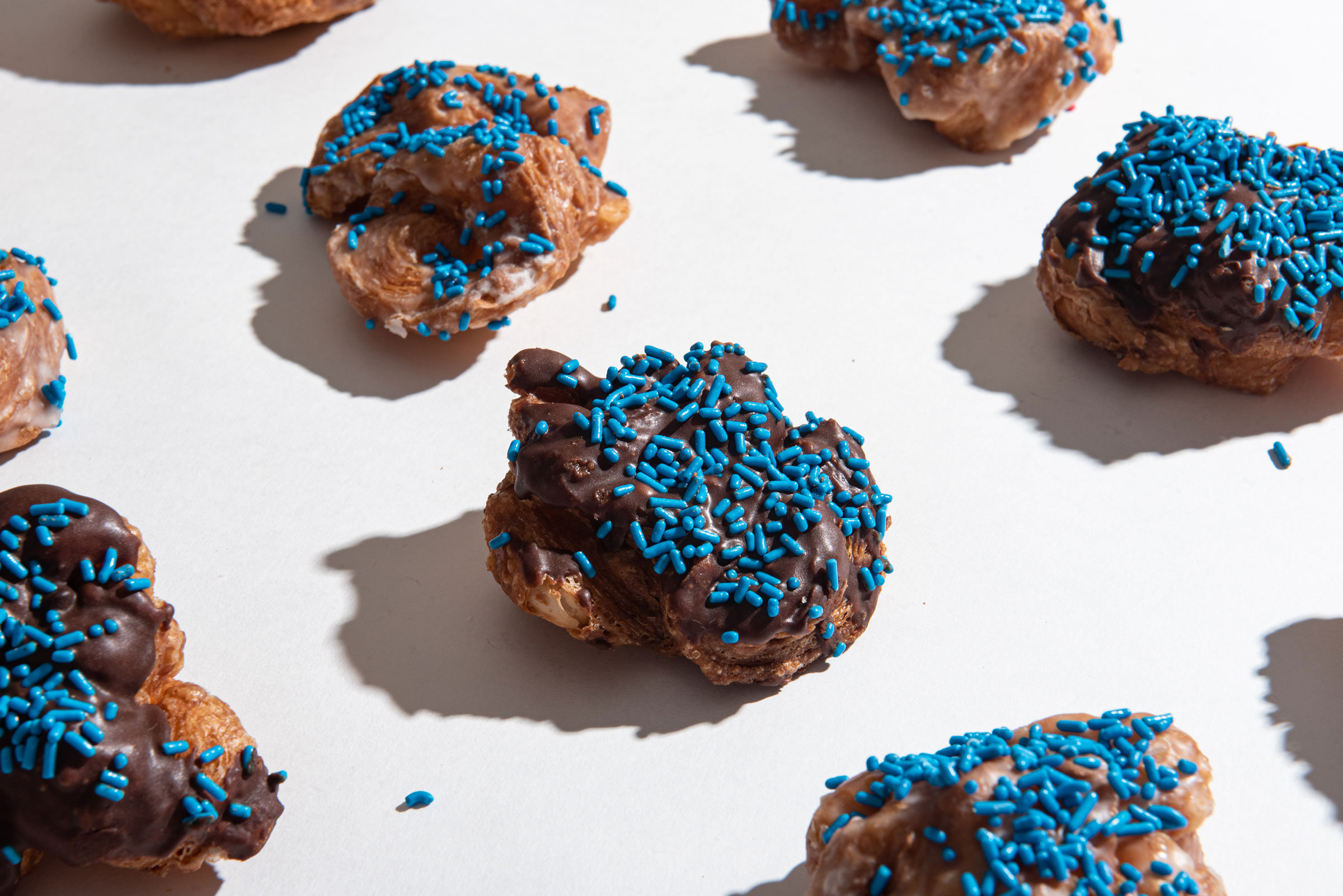 Donut Holes with Blue Sprinkles