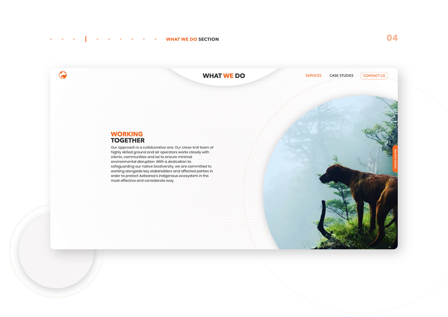 User interface designs for Trap and Trigger website