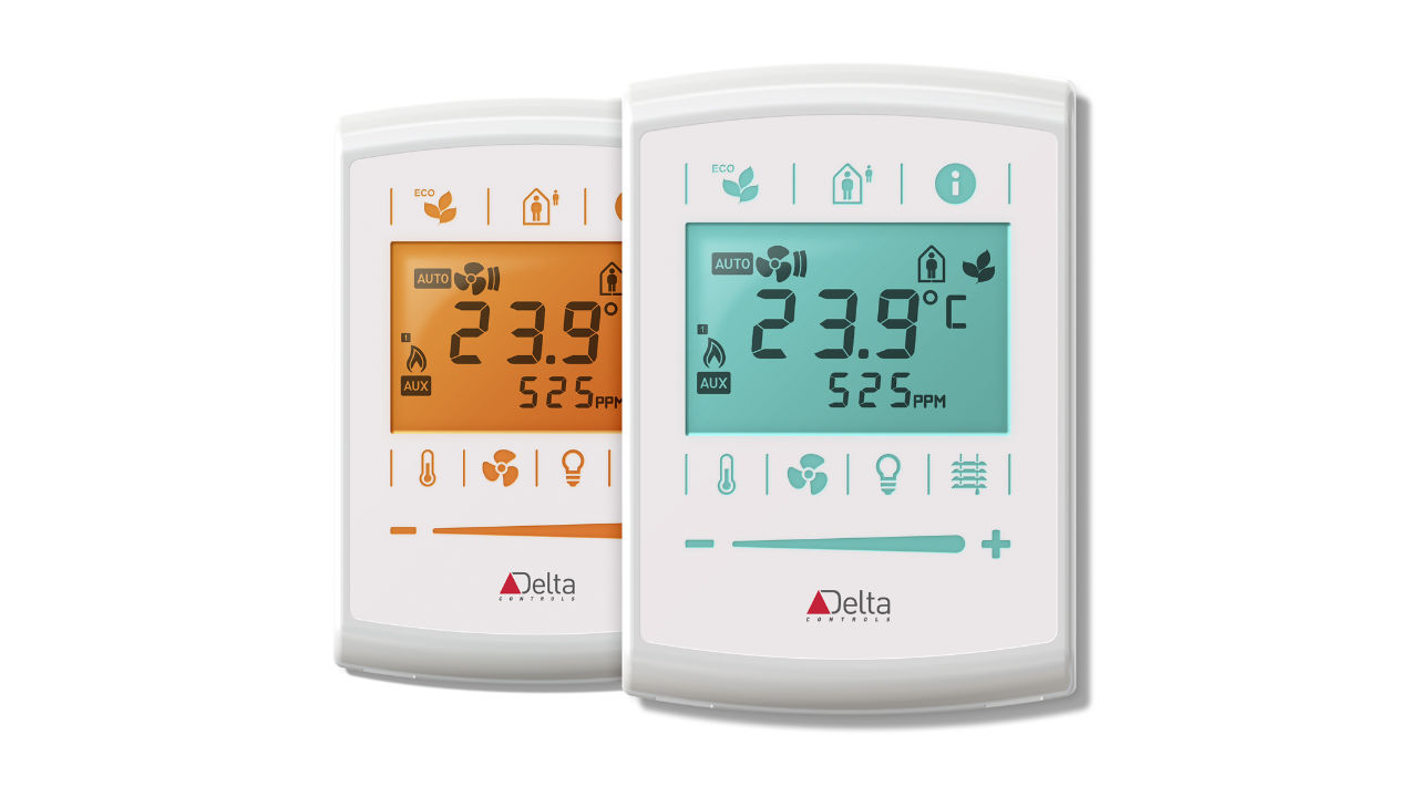 Two color coded thermostats