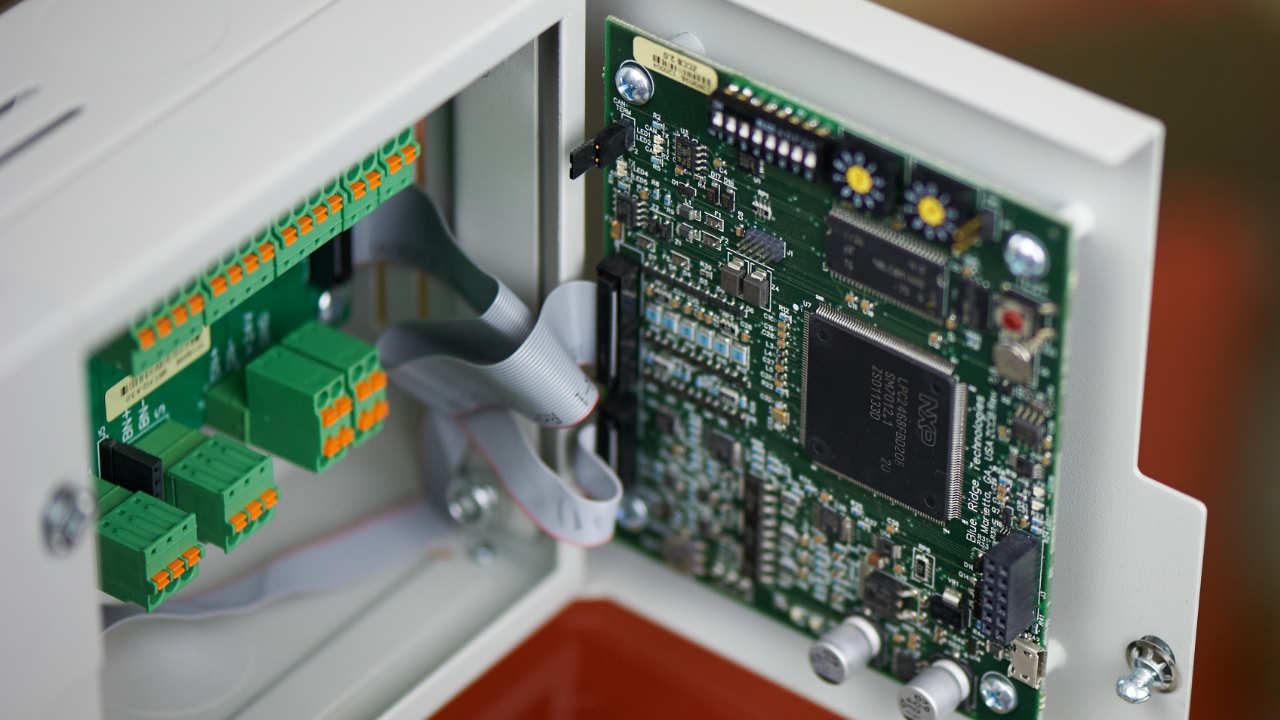 an open circuit board interface