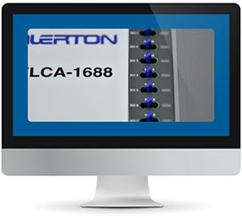Computer monitor showing a close up of an alerton product
