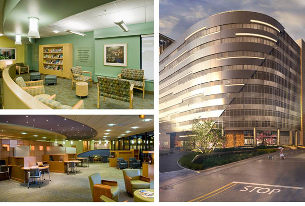 three images showing off the interior of SABH