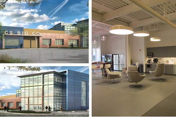 Three Photos of the CS Bio building