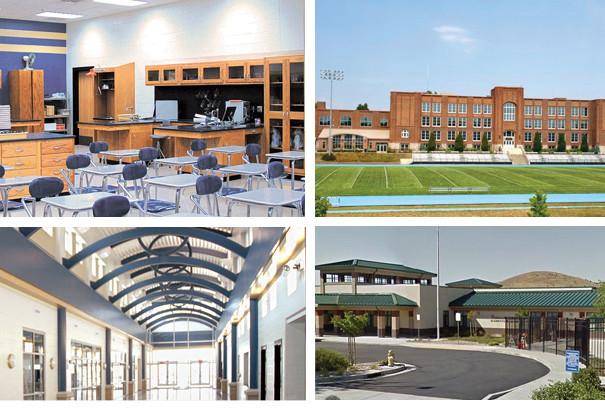 four images of fairfield-suisun school buildings