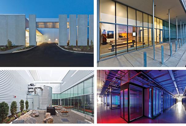 Four industrial photos of Facebook Headquarters