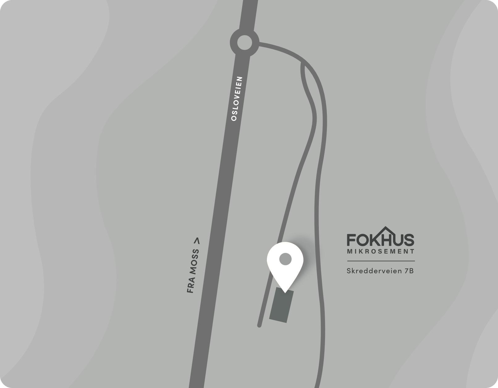 Bilde av kart til Fokhus Mikrosement