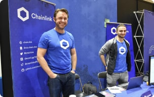 Chainlink members on booth