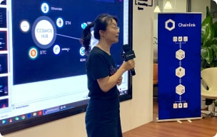 Presentation during a Chainlink event