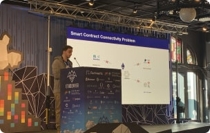 Chainlink presentation during an event photo