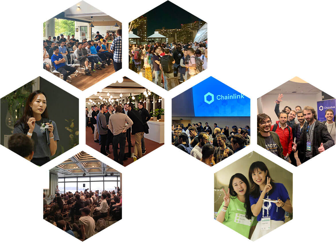Photos of Chainlink events.