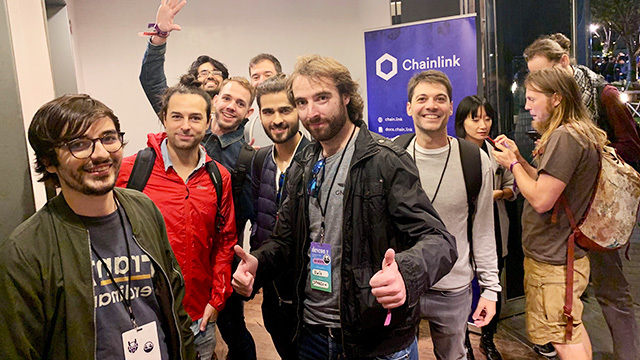Photo of Chainlink event